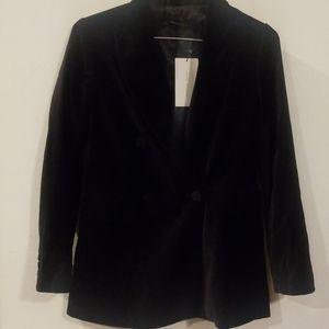 ZARA BLACK velvet jacket size S